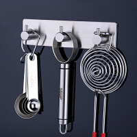 304不锈钢厨房置物架壁挂挂钩挂件钩子厨房收纳架