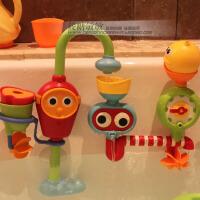 宝宝洗澡玩具儿童电动花洒女孩婴儿玩水小黄鸭子喷水男孩戏水玩具 新款双臂 水龙头