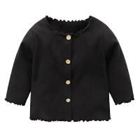 婴儿衣服针织开衫外套 春装春秋女宝宝儿童婴儿花边上衣