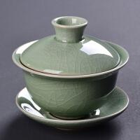 单盖碗茶杯大号景德镇青花瓷泡茶碗器白瓷三才陶瓷茶具配件