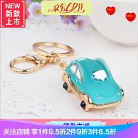 韩国创意礼品可爱水钻电单车汽车钥匙扣女包挂件钥匙链水晶小饰品