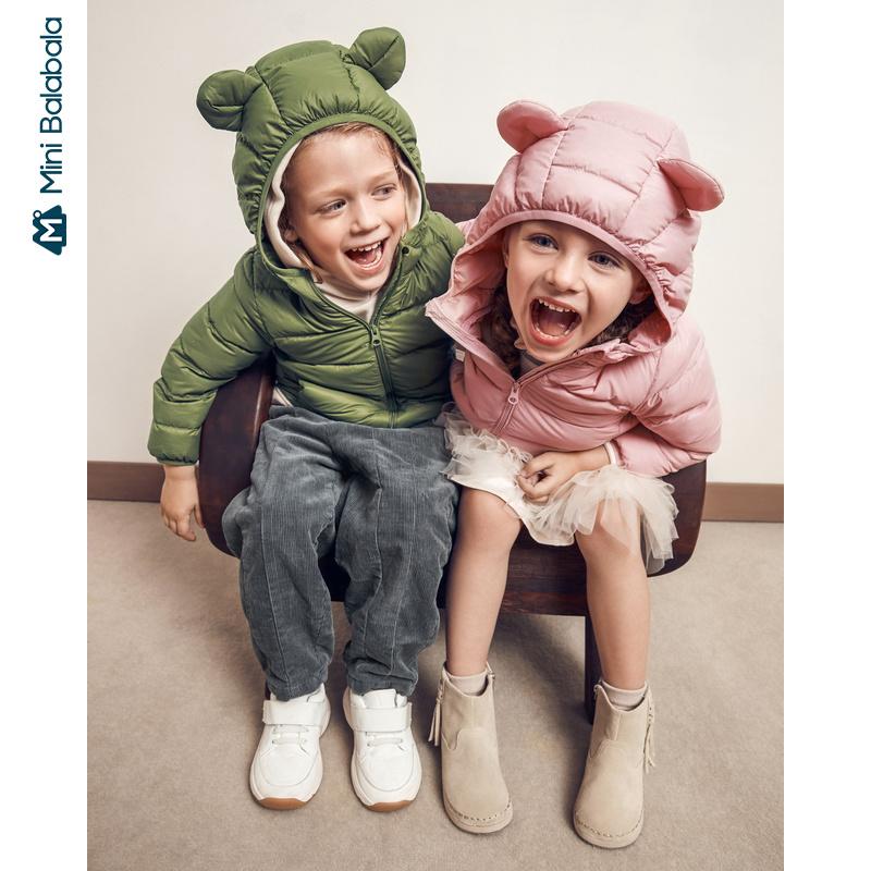 【冬新品每满299减100元】迷你巴拉巴拉儿童羽绒服男女童轻薄便携羽绒外套2019冬季新款童装