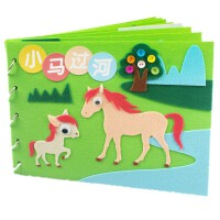 儿童手工制作材料包小马过河故事绘本幼儿园手工作业亲子自制diy套装手工作业