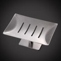 肥皂盒吸盘壁挂式免打孔304不锈钢香皂盒卫生间置物架滤水创意托