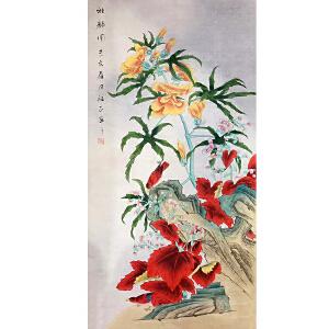 山东菏泽人,中国牡丹书画研究院院长吴绍正(雅韵图)36