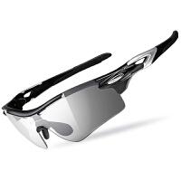 骑行眼镜变色男女跑步山地自行车防风近视运动偏光太阳镜