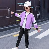 女童春装2019新款洋气小学生运动12岁中大童儿童装卫衣三件套装15
