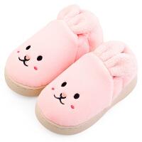 宝宝拖鞋秋冬室内儿童棉拖鞋女可爱冬天保暖加绒fang滑毛毛鞋