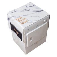 冰柜遮阳布大理石纹冰箱盖布单开门洗衣机防尘盖巾布家用茶几盖布电视遮盖布 140cm*55cm【双侧口袋】