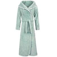 秋冬季男士女士情侣法兰绒加长款睡袍珊瑚绒加厚睡衣性感睡袍浴袍
