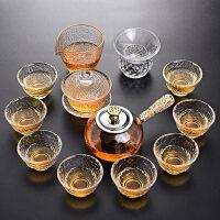 玻璃功夫茶具套装家用整套耐热玻璃茶壶茶杯茶道茶具套装