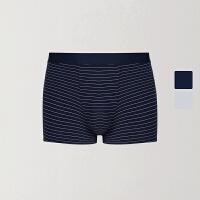 网易严选 重新定义舒适 男式莫代尔条纹平角内裤