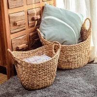 北欧藤编草编脏衣服收纳筐家用收纳脏衣篮脏衣篓编织洗衣篮子