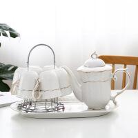 欧式客厅陶瓷水具家用冷水壶描金咖啡杯耐高温杯具茶杯套装