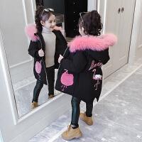 儿童棉衣冬季2018新款韩版中大童棉袄中长款加厚外套女孩
