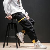 冬季街头潮牌工装裤男士大码韩版宽松运动裤潮流嘻哈休闲裤男裤子