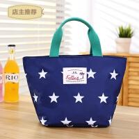 饭盒袋保温手提包韩版布艺可爱午餐水果袋子防水铝箔拎饭袋便当包SN4769