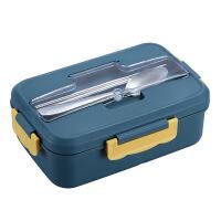 寸年饭盒上班族可微波炉加热 小麦秸秆分格便当盒分隔型学生餐盒套装