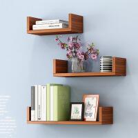 【限时3折】墙上置物架卧室简约现代客厅墙壁墙面搁板置物架创意书架免打孔