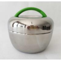 不锈钢保温饭盒 苹果型2双层隔热便当盒创意迷你可爱学生手提餐盒