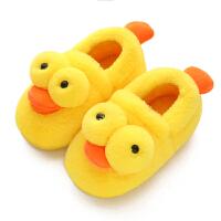 儿童棉拖鞋一家三口男女包跟毛毛保暖婴幼儿宝宝棉鞋冬季