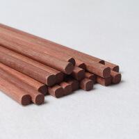 家用创意自然原木筷红木筷红檀木筷子实木筷子套装10双装 红檀木筷10双装