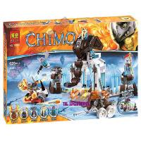欢乐童年-兼容乐高式10356气功传奇赤马CHMIA10357 大力犀决战猛犸冰王座拼装积木玩具