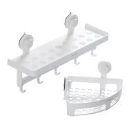 卫生间浴室三角置物收纳架挂钩两件套吸盘式免打孔