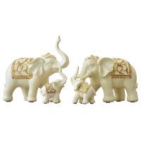 一家三口大象摆件家居饰品美式客厅电视柜玄关酒柜装饰品招财小象