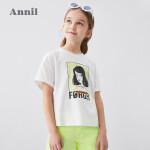 【秒杀价:95.9】安奈儿童装女童T恤纯棉2020夏季新款洋气中大童网红装学生短袖T恤