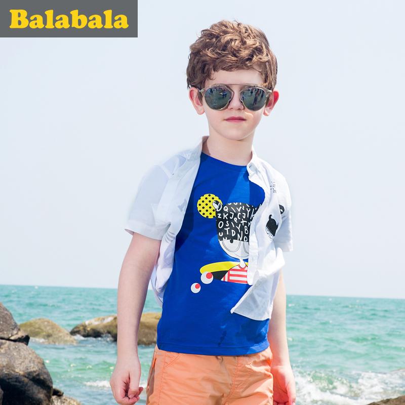 巴拉巴拉男童短袖t恤中大童上衣童装夏装儿童学生T恤男时尚