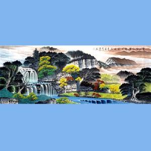 中国美协会员,国家一级美术师,国宾礼*艺术家,河北省美协会员角振平(云山浮厚翠)