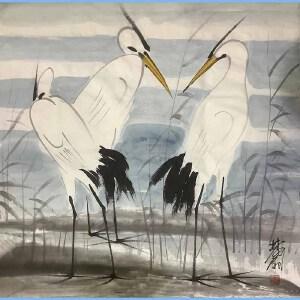 当代画家,艺术教育家,原中央美术学院第一任院长林凤眠(鹤)1