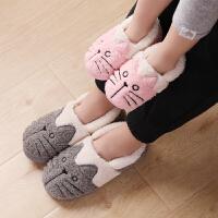 儿童棉拖鞋冬季亲子中大童棉鞋可爱宝宝拖鞋包跟家居鞋女孩