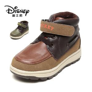【达芙妮集团】迪士尼 冬季儿童短筒短靴平跟休闲运动男童鞋