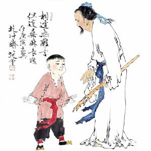 北京大学中国画画法研究院院长,当代书画巨匠文学家诗人范曾(相逢无杂言)
