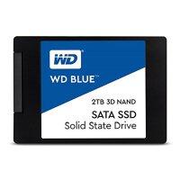 WD西部数据 2T SSD固态硬盘 SATA3.0接口 Blue系列-3D进阶高速读写版 蓝盘
