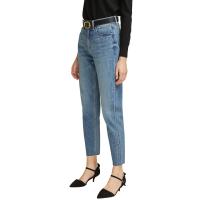 网易严选 女式高腰锥形九分牛仔裤
