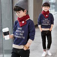 2018新款春秋儿童毛衣中大童男孩毛衣针织衫长袖圆领时尚韩版潮