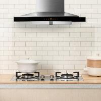 厨房防油贴纸耐高温防水墙贴透明自粘瓷砖墙体用油烟机橱柜灶台贴 图片色