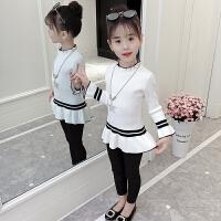 女童毛衣套头2018新款秋装韩版儿童装女孩裙子洋气针织打底衫潮衣