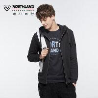 【品牌特惠】诺诗兰新款户外男运动时尚休闲防风保暖卫衣GL075607