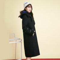 羊羔毛呢外套女中长款韩版2018新款流行大衣女时尚羊毛秋冬装女装