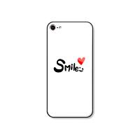 网红英文字母smile手机壳可爱个性创意iPhone6/6splus女款7P钢化玻璃壳8x卡通新款全