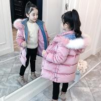儿童棉衣秋冬韩版中长款外套棉服2018新款冬季女孩