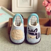 手工千层底秋冬季男童女童儿童保暖宝宝幼儿室内小童家居棉布拖鞋