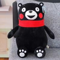 熊本熊人�庑芄�仔熊本君熊本�h吉祥物玩偶毛�q玩具圣�Q��Y物搞怪定制 黑色