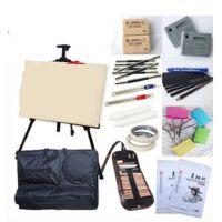 初学者素描套装工具绘画素描纸本铅笔画架画板画袋 21件套装 质画材