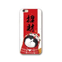 新年招财猫苹果6s手机壳iPhoneX保护套8plus全包边硅胶软壳7p情侣