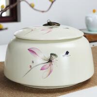陶瓷茶叶罐大号装防潮定窑密封存储罐红绿茶普洱罐子紫砂茶叶罐